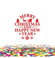 Happy new Year And Nerry Christmas Multicolor vector image vector image