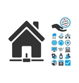 Home Internet Connection Flat Icon With vector image vector image