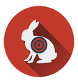 Icon of hare silhouette with target vector image vector image