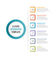 infographic template with 6 steps