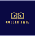 initial letter gg golden gate typography logo vector image