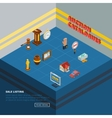 Isometric Auction Element Icon Set vector image vector image