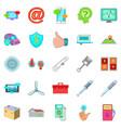 machine repair icons set cartoon style vector image vector image