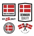 Made in Denmark label set vector image vector image