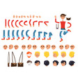 male character colorful constructor on white vector image vector image