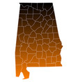 map of alabama vector image vector image