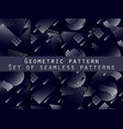 memphis seamless pattern set with gradient vector image vector image