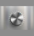 metal knob dial for volume control vector image