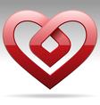 metal stripe heart sign vector image vector image