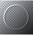 modern circle effect crumpled on vector image vector image