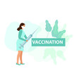 nurse with syringe vaccination protection against vector image
