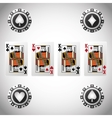 Poker design cards and chips concept casino vector image
