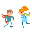 Pretty cheerful little girl and boy thermal suits vector image vector image