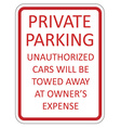 Private parking vector image