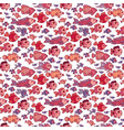 seamless pattern with sea fishes vector image