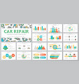 set of car service and auto repair elements for vector image vector image