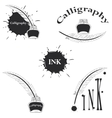 set of logos for calligraphy vector image vector image