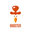 signs and symbols rooster vector image