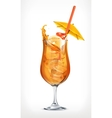Summer cocktail icon vector image