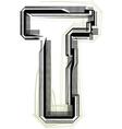 technological font LETTER T vector image vector image
