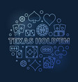texas holdem round blue outline vector image