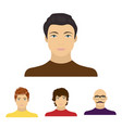 the appearance of the young guy the face of a vector image vector image