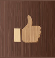 thumb up positive symbol icon flat design style vector image vector image
