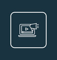 video marketing icon line symbol premium quality vector image vector image