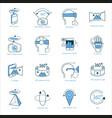 virtual reality icons set vector image vector image
