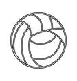 voleyball ball equipment vector image vector image