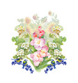 watercolor floral composition clipping path vector image