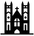 westminster abbey solid vector image