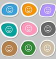 Winking Face icon symbols Multicolored paper vector image