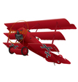 WWI Triplane Warbird vector image