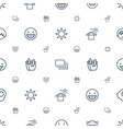 yellow icons pattern seamless white background vector image vector image