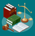 law and justice conept symbol of law and justice vector image