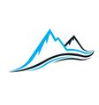 Mountain swoosh logo