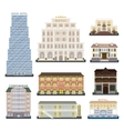 Hotel buildings vector image