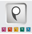 Map pin vector image
