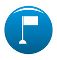 flag icon blue vector image