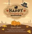 Happy Thanksgiving Card Design vector image