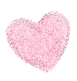 heart shape with decorative texture vector image
