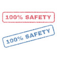 100 percent safety textile stamps vector image vector image