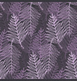 abstract elegant purple tropical leaves pattern vector image vector image