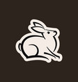 abstract icon of a hare vector image vector image