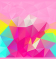 abstract irregular polygon square background pink vector image vector image