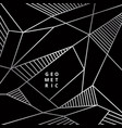 abstract silver line geometric on black vector image