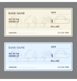 Bank Check Template Set vector image