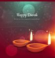 beautiful happy diwali diya greeting card vector image vector image