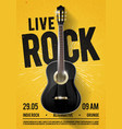 beautiful live classic rock music poster template vector image vector image